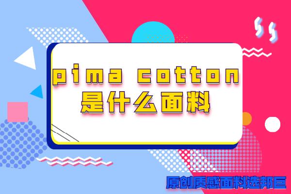 pima cotton是什么面料